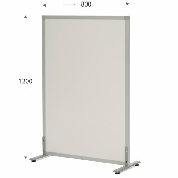 ノルム シンプルスクリーン W800xH1200 ホワイトメラミン (アジャスター仕様) SHSCR-WHLAJ アールエフヤマカワ RFyamakawa パーテーション パーティション 衝立 間仕切り 掲示板 スクリーン オフィス家具