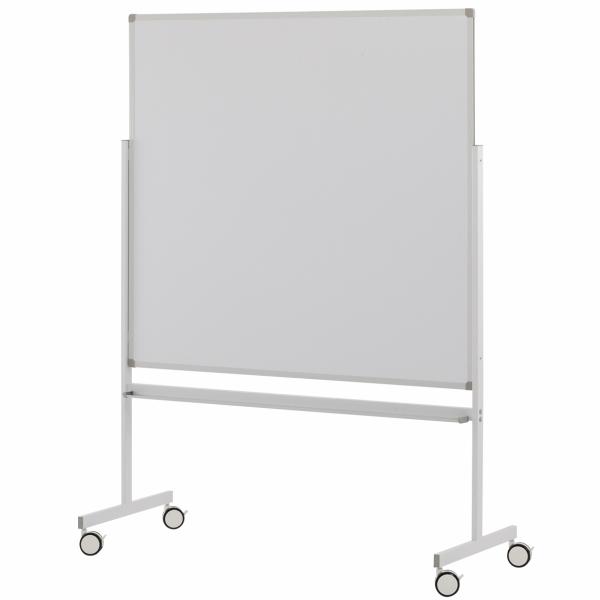 縦型ホワイトボードW1200×H1200 片面 SHWB-1212ASWH アールエフヤマカワ RFyamakawa 脚付ホワイトボード 白板 掲示板 無地 キャスター付き オフィス家具