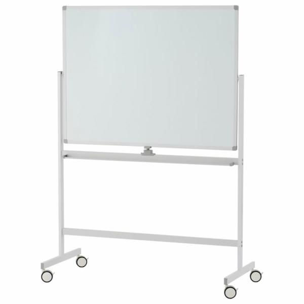 ホワイトボード 1200×900 両面 ホワイト SHWB-1290BSWH2L アールエフヤマカワ RFyamakawa 脚付ホワイトボード 白板 掲示板 無地 キャスター付き 回転式 オフィス家具