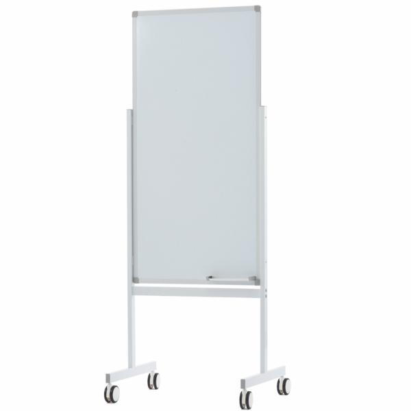 縦型ホワイトボードW600×H1200 片面 Z-SHWB-6012ASWH アールエフヤマカワ RFyamakawa 脚付ホワイトボード 白板 掲示板 無地 キャスター付き オフィス家具