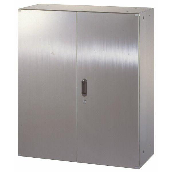 日本製 新作 大人気 薬品保管等に 送料無料 ステンレス収納庫 W900D500H1050 両開き smtb-tk 壁面収納 スーパーセール期間限定 ステンレス 書庫 車上渡し