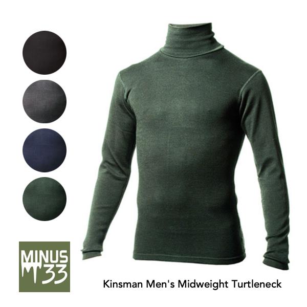 [正規取扱店][送料無料]【MINUS33】マイナス33 Kinsman Men's Midweight Turtleneck タートルネック ベースレイヤー インナー ロンt