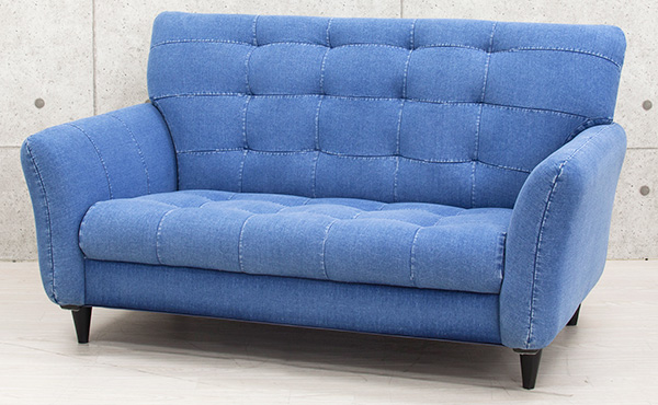 Image: Denim Sofa Randy One Seat (on The Left). Two Seat (on The Right).