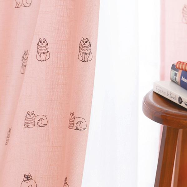 リサ・ラーソン カーテン スケッチ(刺繍) 巾100×丈225cm(1枚入)【QL1003-11・QL1003-95】 LISA LARSON 柄 モダン レトロ モダン 子供部屋 カーテン 麻 カーテン 北欧  リサラーソン カーテン