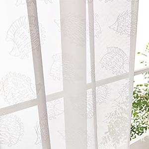 [プレーンシェード] コード式 リサ・ラーソン レース【QM4006-03】 ハリネズミ(レース) LISA LARSON 柄 モダン レトロ モダン 子供部屋 カーテン 北欧  リサラーソン カーテン
