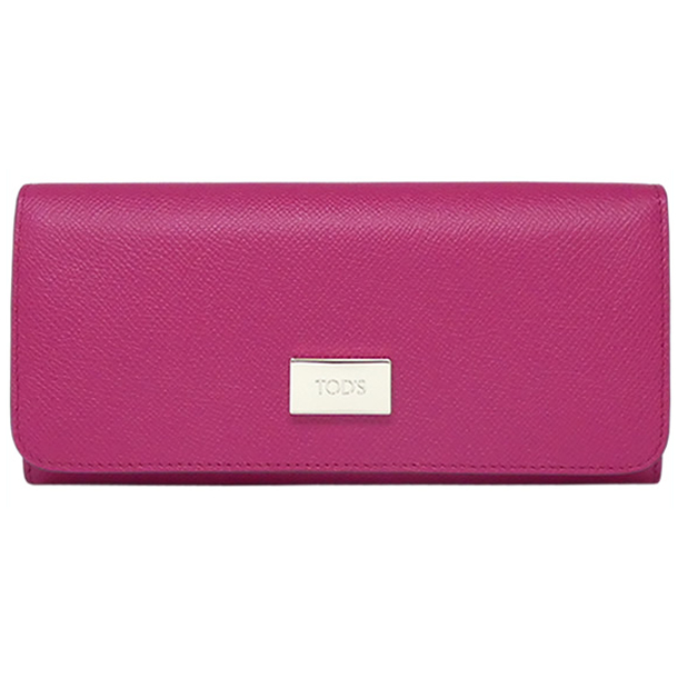 28adb241a6 TOD'S トッズ TODS folio long wallet LEATHER WALLET magenta pink purple  XAWDSPBA400 DOU M824 Lady's ...