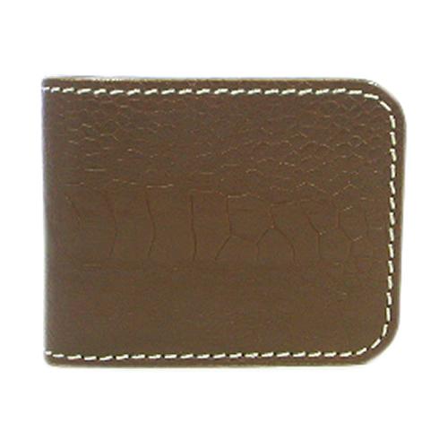 【ギフト ラッピング無料】二つ折り財布 ショートウォレット 茶オーストレッグ/茶 【新品 未使用】