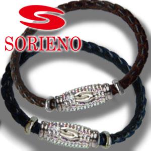 SORIENO(ソリエノ)αLeather Touch ブレスレット(シルバー) スポーツブレスレット 健康 ブレスレット