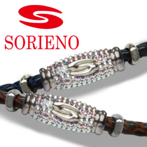 SORIENO(ソリエノ)αLeather Touch ネックレス(シルバー) スポーツネックレス 健康 ネックレス