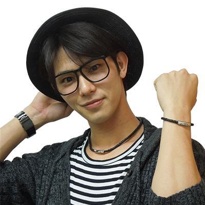 SORIENO α LEATHER ネックレス(ガンメタ×ガンメタ)小谷嘉一選手着用モデル