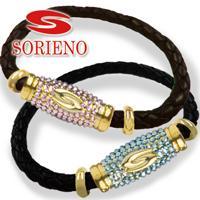 SORIENO(ソリエノ)αLeather カスタムブレスレット(ゴールド) スポーツブレスレット 健康 ブレスレット