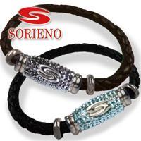 SORIENO(ソリエノ)αLeather カスタムブレスレット(シルバー) スポーツブレスレット 健康 ブレスレット