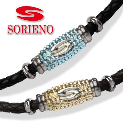 SORIENO(ソリエノ)αLeather カスタムネックレス(シルバー) スポーツネックレス 健康 ネックレス