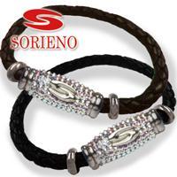 SORIENO(ソリエノ)αLeather ブレスレット(シルバー) スポーツブレスレット 健康 ブレスレット