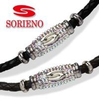 SORIENO(ソリエノ)αLeather ネックレス(シルバー) スポーツネックレス 健康 ネックレス