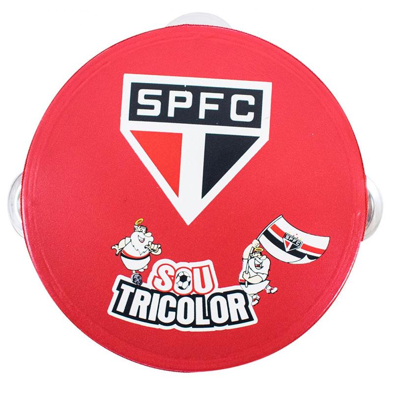 サンパウロFC パンデイロ 木製タンバリン【SAO PAULO FC】レッド
