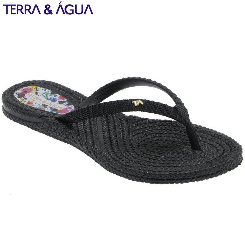 5%OFF TERRAAGUA リゾートビーチサンダル 国産品 ブラック