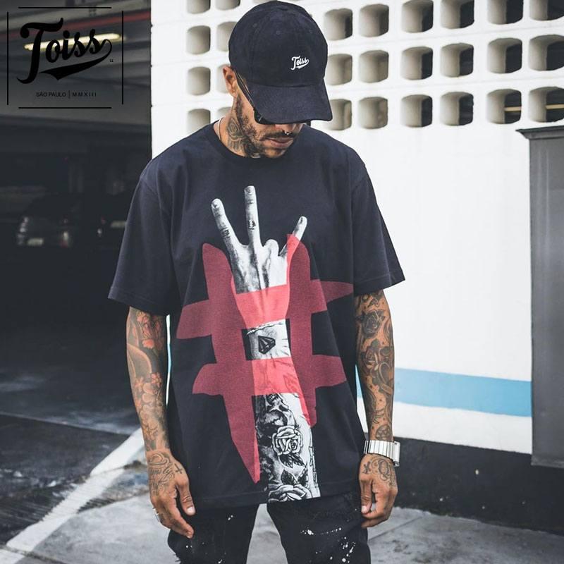 TOISS 超激安特価 本物 トイス#ハンドデザインTシャツ ブラック ネイマールブランド