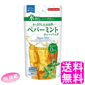 【送料無料】 ティーブティック 水出しハーブティー ペパーミント【36袋組】 ■ 日本緑茶センター Tea Boutipue ハーブティー お茶