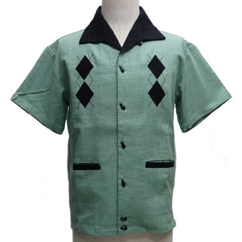 GOOD ROCKINグッドロッキン ロッキンボウリングシャツ[ ダイヤモンドレーン ]GRS-275【送料無料】