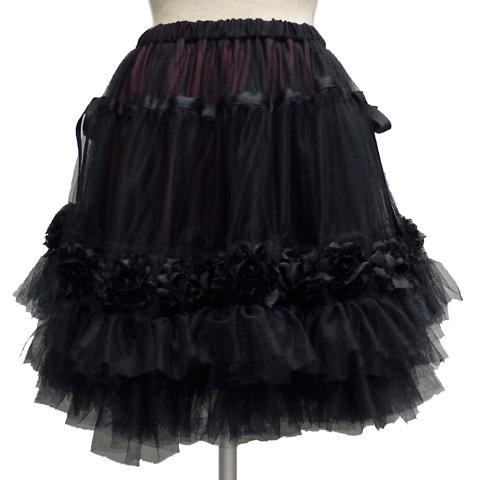 Sheglitシェグリット 薔薇モチーフチュールスカート[ ショート ]SH518070【送料無料】