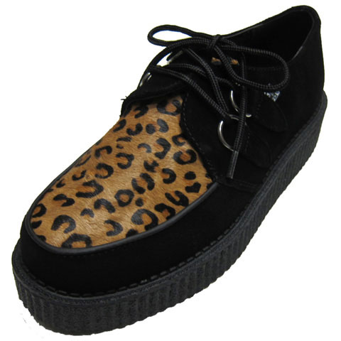 T.U.K LOW SOLE CREEPER[ BLACK SUEDE & LEOPARD ]TUK-A8142【送料無料】