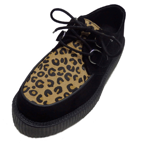 T.U.K VIVA LOW SOLE CREEPER[ BLACK SUEDE & LEOPARD ]TUK-V8142【送料無料】
