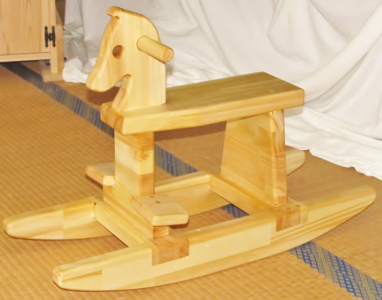 手作り木製 木馬(完成品)