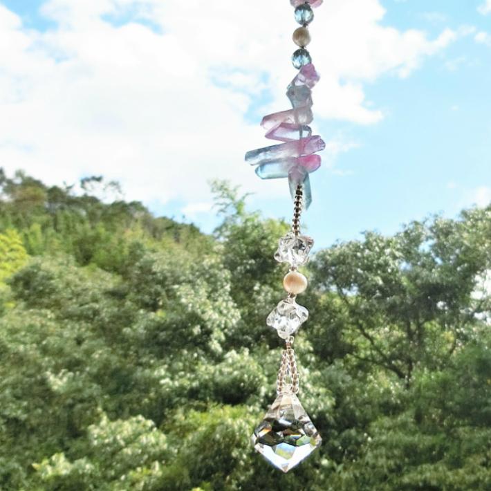 天然石サンキャッチャー「Angel light~天使の光~」◆天然石アクセサリー「彩雅~sae」◆