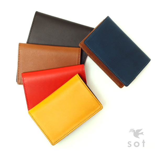 sot (ソット) ブッテーロ レザー スマート カードケース ユニセックス 本革 バイカラー 全5色