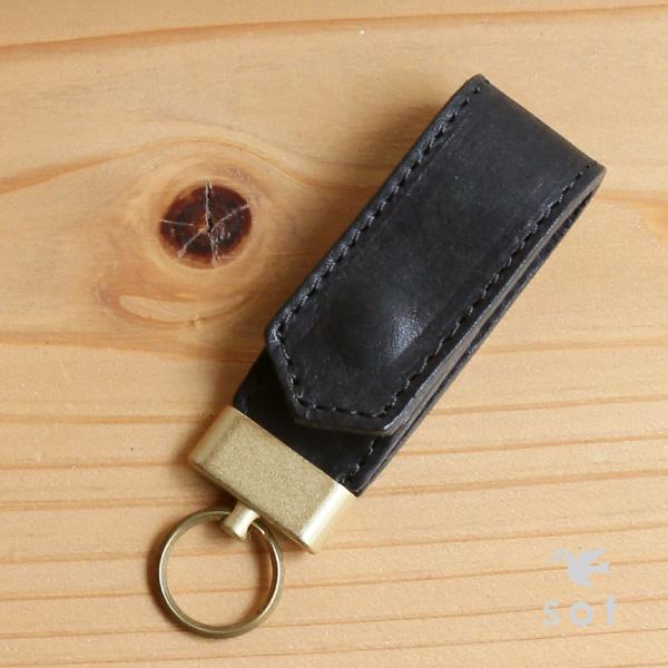 sot (ソット) Pueblo leather key ring genuine leather camel   dark brown   black 948b3dd1e