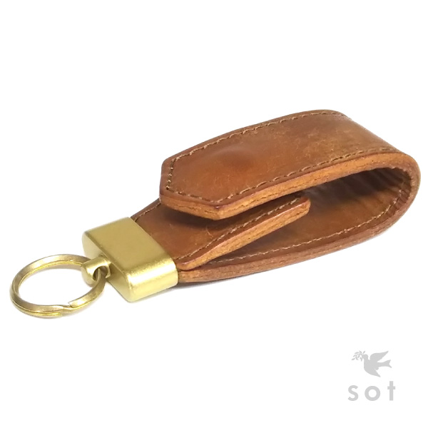 sot-web  sot (ソット) Pueblo leather key ring genuine leather camel ... 54b3a2ae6