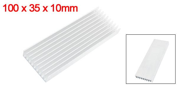 uxcell 100mm x 35mm x 10mm heat sink heat cooling fin D fuser heat  radiation board aluminum two ウム IC SCR parts use