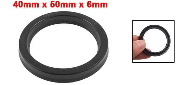 uxcell USH 40mm x 50mm x 6mm Hydraulic Cylinder Rubber Oil Seal Ring