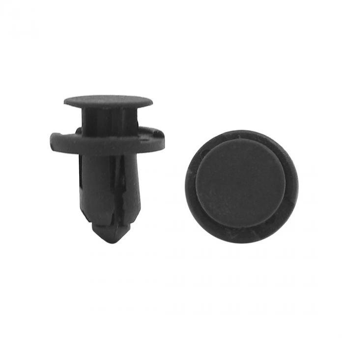 120PC 8mm Car Auto Plastic Trim Rivets Buckle Fastener Clip Clips Black