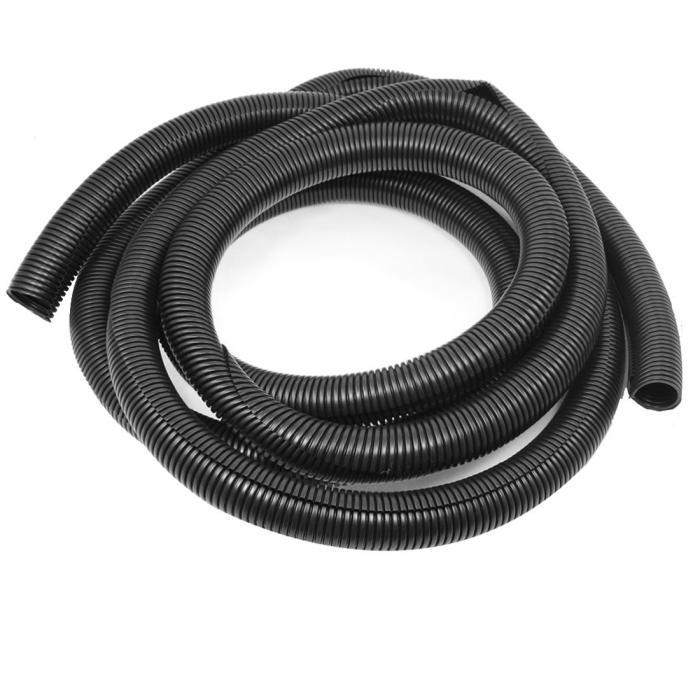ソウテン uxcell コルゲートチューブ スプリット織機チューブ 5.4M長さ プラスチック製 波型 ブラック