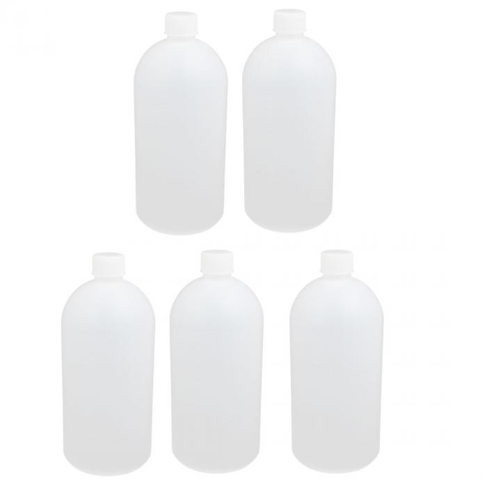 ソウテン 実験用ボトル 研究室用 プラスチック 液体サンプル用 PE 1000ml ホワイト 215 x 95mmm 5個入り