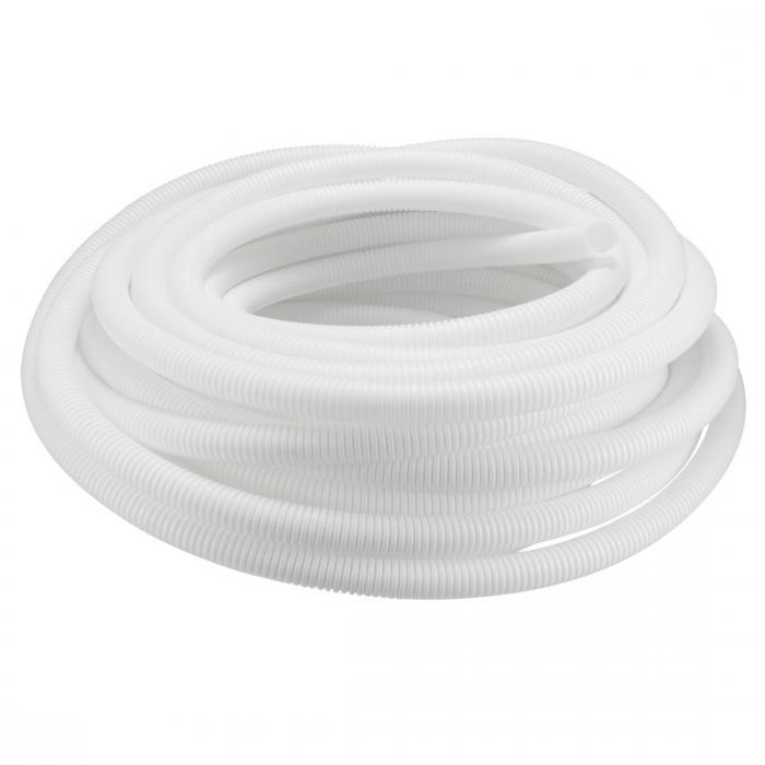 ソウテン uxcell コルゲートチューブ 電気配線用チューブ 外径21.2mm 長さ20M ポリエチレン ホワイト