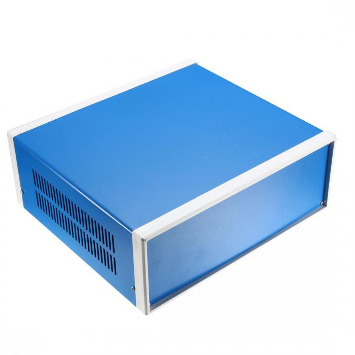 ソウテン uxcell ジャンクションボックス 305 x 282 x 122mm ブルー 金属製エンクロージャ 1個入り