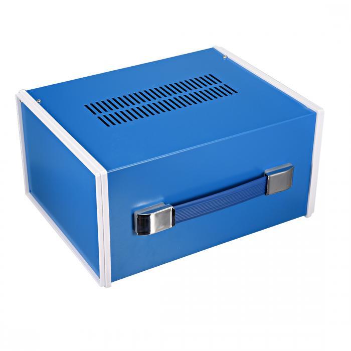ソウテン uxcell ジャンクションボックス 270 x 140 x 120mm ブルー 接続箱 金属 1個入り