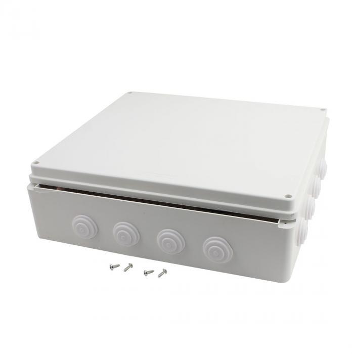ソウテン uxcell 接続箱 防水ジャンクションボックス ABS ゴム 400mmx350mmx120mm DIYジャンクションボックス