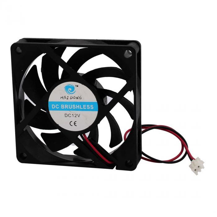 uxcell DC12V 80mmx80mmx25mm PC CPU Computer Cooling Fan w Metal Finger Guard