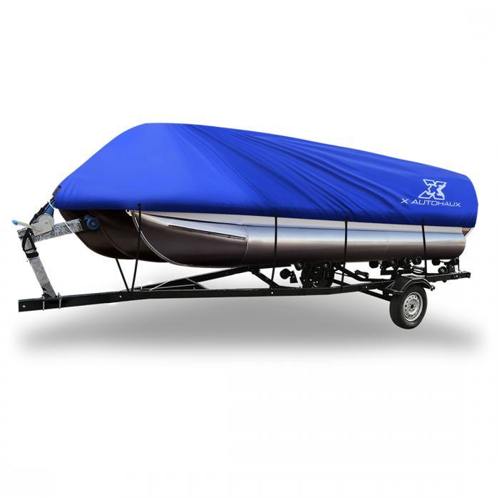 ソウテン ボートカバー 300D 防水トレーラブル 角形ボート用 ブルー 640-732cm