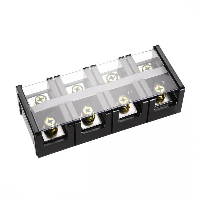 ソウテン uxcell バリア端子台 バリア端子台ブロック ネジ留め式端子工業用コネクタ 600V 200A 4ピン 5個入り