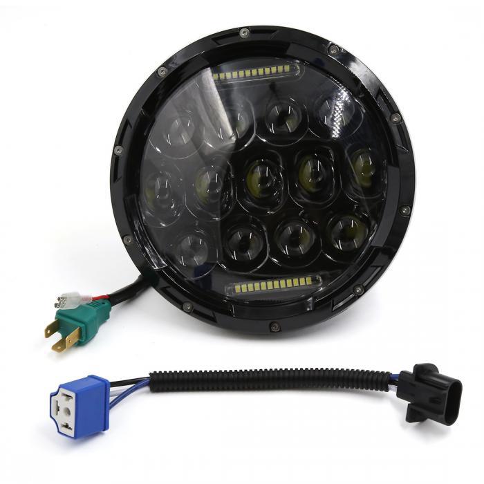 ソウテン ヘッドライト LEDライト ブラック 75W H4 H13 DRL Jeep用