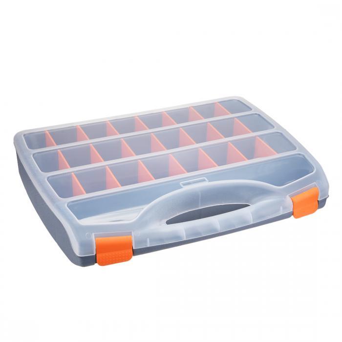 ソウテン ツールボックス ABS樹脂製 グレー ハードウェアツールボックス 26パーツ入り