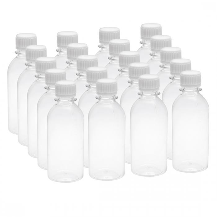 ソウテン uxcell プラスチック製透明ボトル 6.8oz/200 ml プラスチックラボ用瓶 小型容器用クリアボトル 20個入り