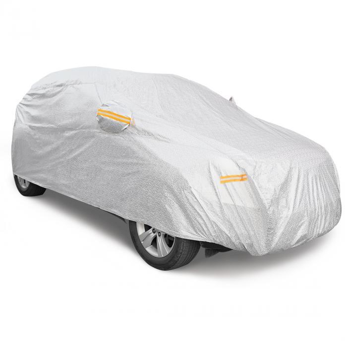 ソウテン uxcell カーカバー ボディカバー 車カバー 車用 CPPソフトアルミ 480 x 190 x 180cm 2XXL シルバートーン