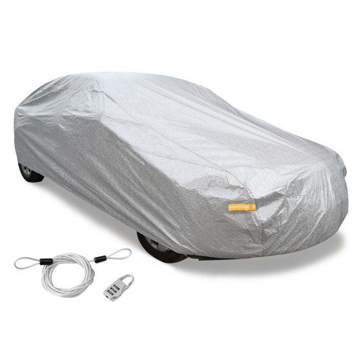 uxcell カーカバー ボディカバー 車カバー 車用 CPPソフトアルミ 480 x 180 x 160cm 3L+ シルバートーン