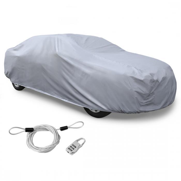 ソウテン カーカバー ボディカバー 車カバー 車用 無料ストレージバッグ PEVA 480x 180 x 160cm 3L+ シルバートーン
